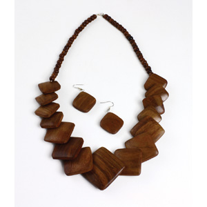 Wooden Jewelry Set